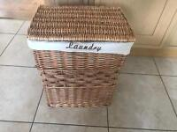 Wicker laundry basket, excellent condition