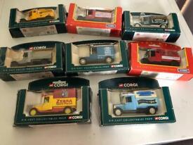 8 collectable corgi cars £20