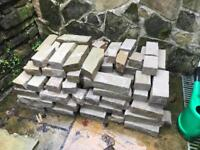 Natural stone bricks