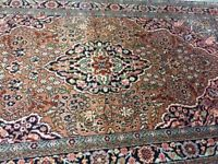Hand Made Silk Rug 130cm x 73cm