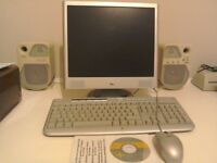 "17"" flat screen hp monitor, keyboard and mouse"