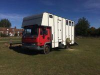 7.5T LEYLAND DAF HORSEBOX HORSE LORRY EQUINE