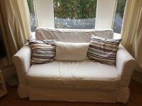 2 Seater Sofa Bed White 'Hagalund' IKEA - Perfect Condition