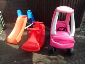 Little Tikes Slide/Cozy Coupe & ELC Rocker