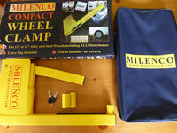 """Milenco Compact Wheel Clamp to fit 12"""" to 16"""" Alloy and Steel Wheel including Motorhomes."""