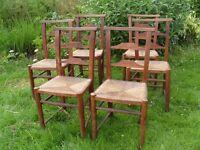 Set of Six Original Chapel Chairs Dining Furniture