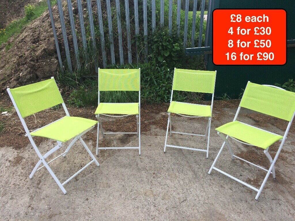 Lime Green Foldaway Garden Chairs
