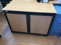 Steelcase fire safe tambour Cabinet unit with locker