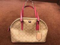 Coach bag (pink and cream) UNUSED