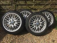 Bmw e46 3 series mv1 alloys with Dunlop winter sport 3D tires