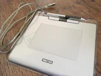 Wacom tablet with stylus
