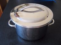 Stainless steel pan and lid. Brand new