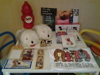 """25 ITEMS FOR """"DOG"""" LOVERS inc TSHIRT, SLIPPERS, DVDS, ETC."""