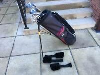 Hippo golf clubs, full set of irons, driver, 3 wood, 5 wood, Putter & Bag. Immaculate Condition