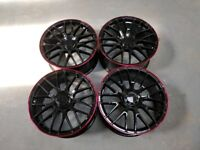 Alloys 19 inch Merc C63 S Gloss black-Red lip Merc C&E class £385