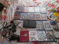 PS2 SLIMLINE CONSOLE BUNDLE,20+ GAMES WHICH ARE GTA LIBERTY CITY STORY ETC