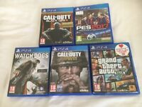 5 ps4 games.(see picture for titles) Excellent condition £60 NO OFFERS. CAN DELIVER