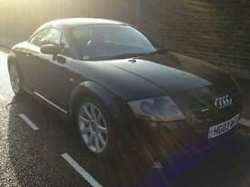 Black Audi TT 1.8 T Quattro Manual Coupe