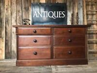 Large antique Merchant Chest Counter Sideboard Drawers ⭐️ DELIVERY AVAILABLE ⭐
