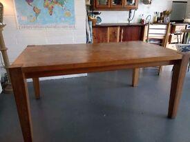 Oak Table, 160cm long, 95cm wide and 75cm high.