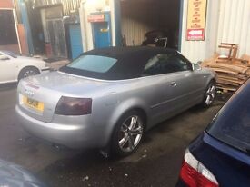 Audi A4 2.4 Convertible Gas /Petrol 41p per litre Full History Awesome car electric heatedleathers