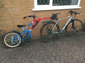 Childs Trail A Bike for child 3yrs+ safe cycling attached to adult bike