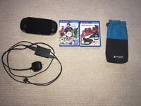 PS Vita with Football Manager Classic 2014, Need for Speed Most Wanted and FIFA 13
