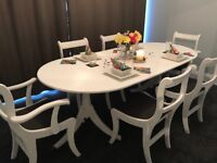 Beautiful upcycled table and chairs