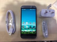 HTC M8 BLACK/ UNLOCKED / 16 GB/ VISIT MY SHOP. / GRADE A / WARRANTY + RECEIPT
