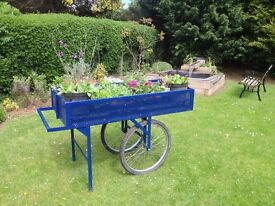 Refurbished Spanish flower cart