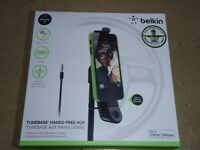 Belkin Tunebase hands free aux for iPhone 5 with lightning port. New, boxed