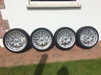 "X4 BMW 18"" Alloy Wheels Full Refurb LIKE NEW with X4 BRAND NEW Pirelli P-Zero Run Flat Tyres"