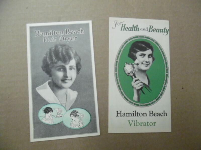 c.1920s Hamilton Beach Electric Hair Dryer Vibrator Brochures Beauty Aid Vintage