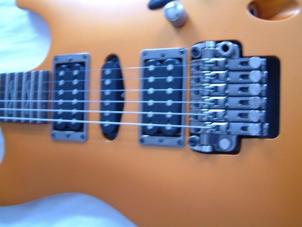 Ibanez S470DX Saber series electric guitar - Korea - 2003 =- Flat Orange Flare