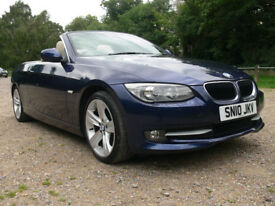 Lovely Low Mileage BMW 320i Convertible 2010 in Great Colour Combination