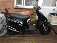 PIAGGIO TYOHOON 50CC WITH 70 KIT ON FOR SALE OR SWAP FOR 125 GEARED BIKE