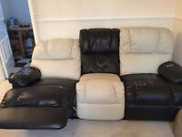 3 seater faux leather sofa(recliner)