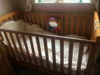 Mothercare Cotbed, Tallboy, Changing Unit (+ MCare bumper, cot tidy & curtains)