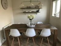 Next kitchen table and eames chairs