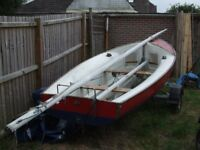 For Sale 14 Foot Bosun SAILING DINGHY with As New Trailer NEW PICS just re varnished wood