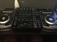 2x numark ndx400 usb cd players plus behringer djx900usb mixer