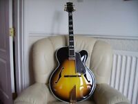 archtop. Triggs.san salvadore. 2005. £3,000. part ex consided. Swop for a tal farlow. Stockton.