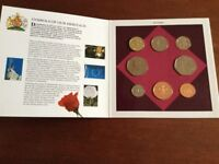 1993 United Kingdom Brilliant uncirculated coin collection, contained in a presentation folder.