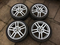 """Seat Leon Cupra R 18"""" Alloy Wheels Refurbished and powdercoated, tyres near new"""