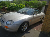SILVER MG CONVERTABLE VVCWITH RED LEATHER SEATS 1998 ,MOT UNTIL JULY 2017 ,50K MILES ,GARAGED ,