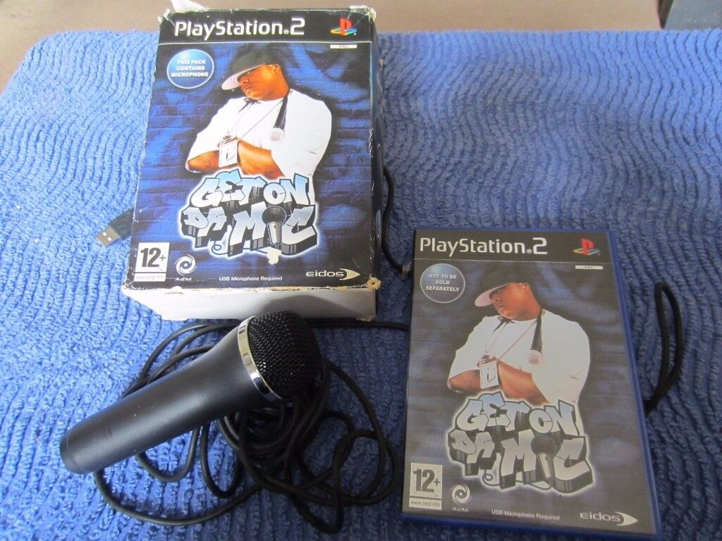 Playstation 2 Microphone and Get On Da Mic Game