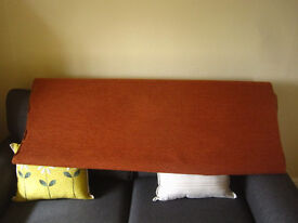 3 metres of terracotta/gold upholstery fabric
