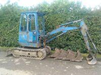 Mini digger swap 4x4 tractor export