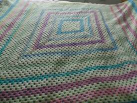 Homemade croched blanket or throw