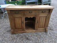 Mid century old pine sideboard